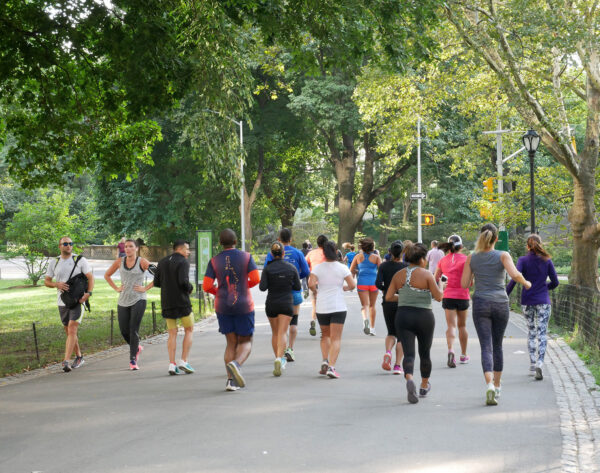 running with a group