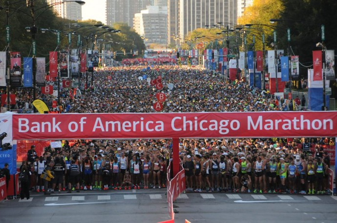 Chicago Marathon course