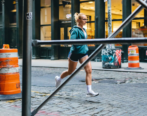 Sabrina Wieser running in Manhattan