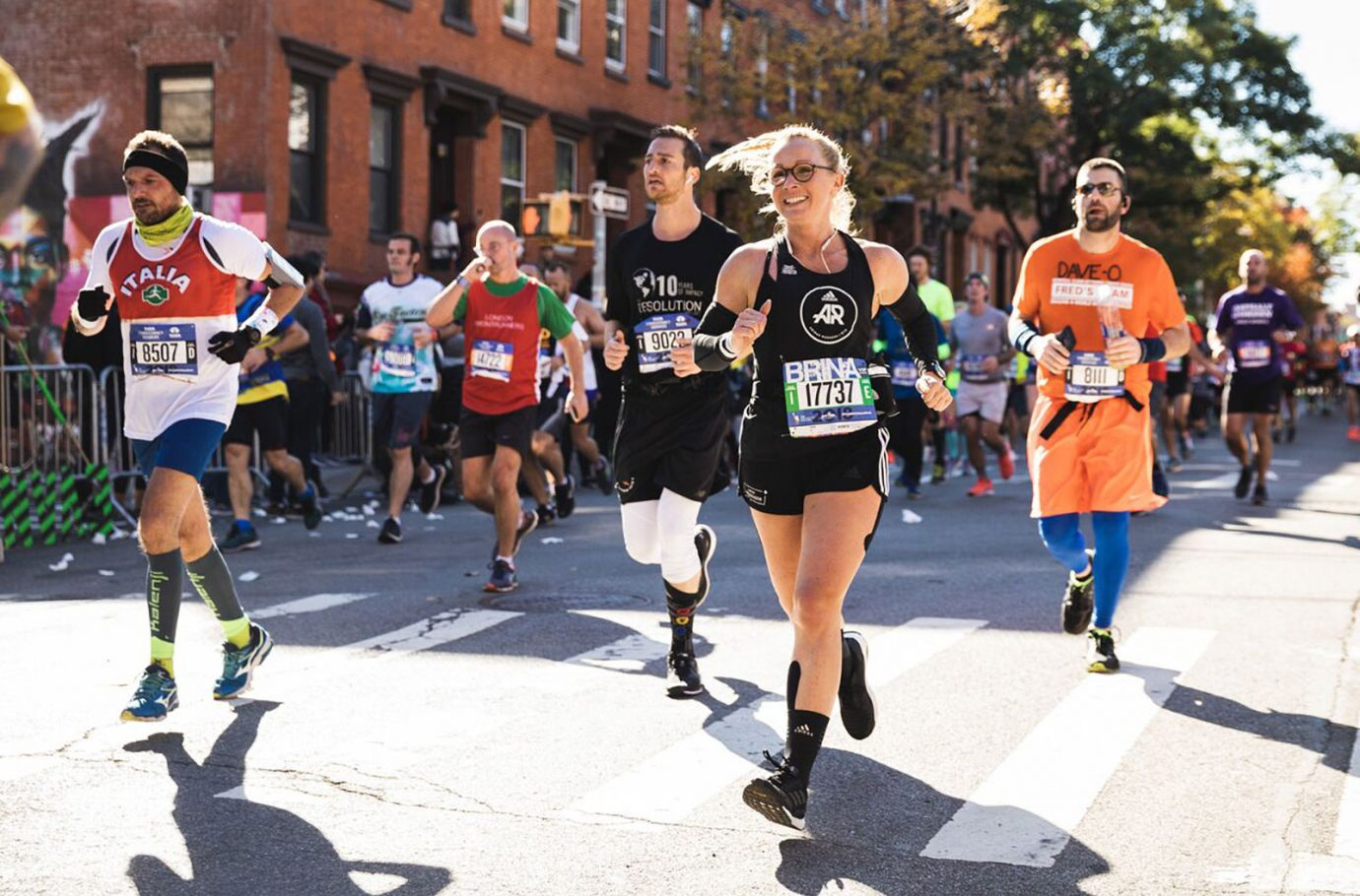 Sabrina Wieser running the NYC Marathon