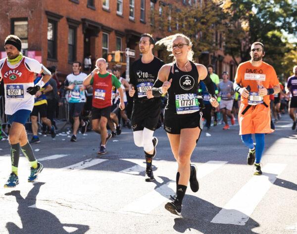 Sabrina Wieser running the NYC Marathon
