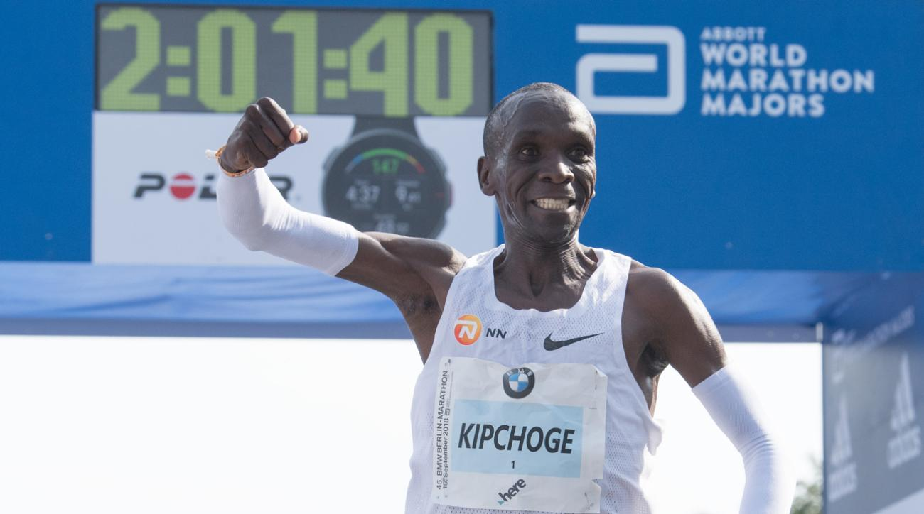 Eliud Kipchoge at the Berlin Marathon World Record